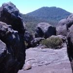 Rock-framed Mt Mitchell