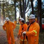 Firesticks Training at Yarrawarra Cultural Centre May 2014 - Burn 11