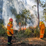 Firesticks Training at Yarrawarra Cultural Centre May 2014 - Burn 4