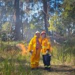 Firesticks Training at Yarrawarra Cultural Centre May 2014 - Burn 6