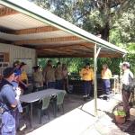 Ngulingah rangers show the group the nursery