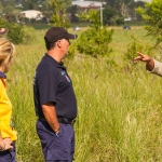 Rangers discuss the burn strategy with the RFS representatives
